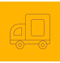 Medium truck line icon vector