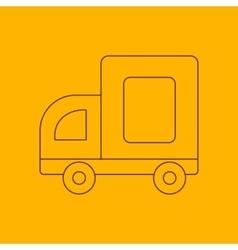 Medium truck line icon vector