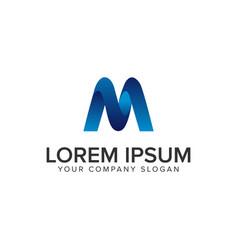 modern letter m 3d logo design concept template vector image