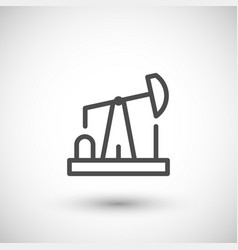 oil pump line icon vector image