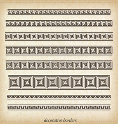 Old greek ornaments vector image vector image