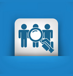 people selection vector image