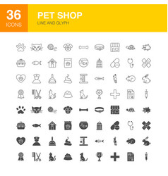 pet shop line web glyph vector image