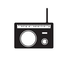 radio icon black icon pictogram vector image