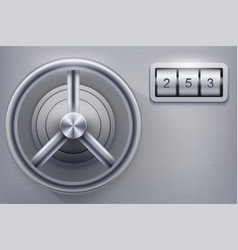 safe with combination lock vector image