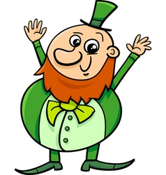 saint patrick leprechaun cartoon vector image
