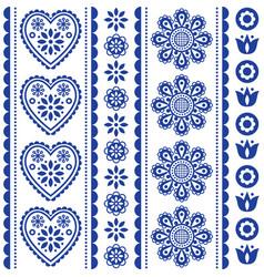 Scandinavian seamless folk art pattern vector