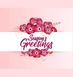 season s greeting template spring sale flyer vector image