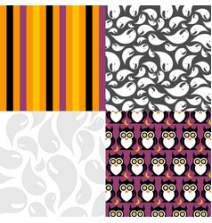 set four texture cute and colorful vector image