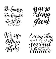 Set inspirational and encouraging quotes vector