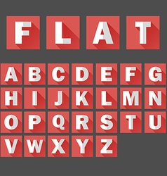 Set of flat design alphabet vector