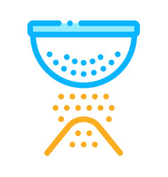 sifting flour preparation icon thin line vector image