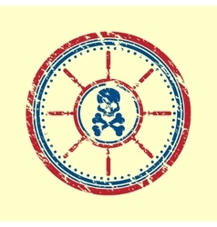 Skull symbol grunge vector image