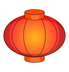 Sky lantern icon cartoon style vector