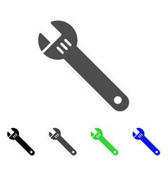Spanner flat icon vector