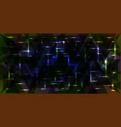 starry sky pattern in green and blue colors vector image