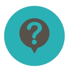 Status flat grey and cyan colors round button vector