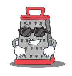 Super cool kitchen grater character cartoon vector