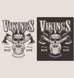 t-shirt print with viking head vector image
