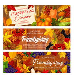 Thanksgiving day and friendsgiving potluck vector