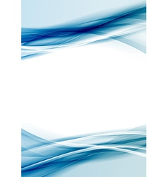 Transparent blue color border folder design vector image