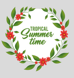 Tropical summer time poster vector