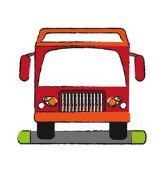 Truck draw vector