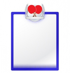 vector table tennis template vector image