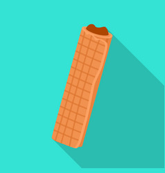 Wafer roll iconflat icon isolated vector