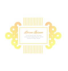wedding invitation design template minimalistic vector image