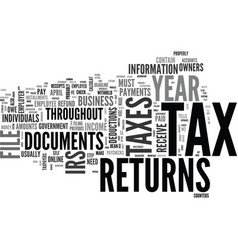 What s so special about tax returns text word vector