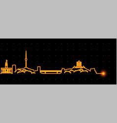 Wuhan light streak skyline vector