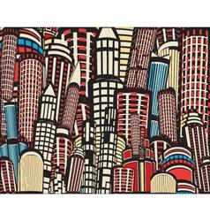 Colorful cartoon city vector image vector image