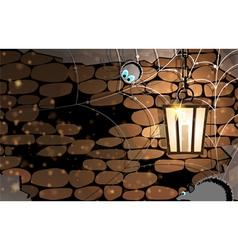 Dark stone dungeon vector image