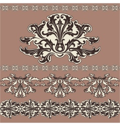 design swirling decorative floral elements vector image vector image