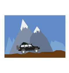 off road mountain vector image