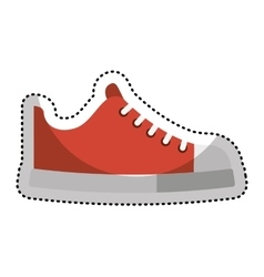 shoe young style icon vector image vector image