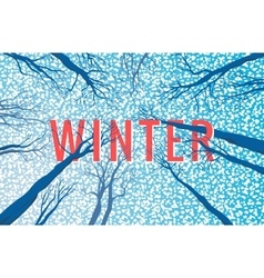 Winter landscape with text vector image vector image