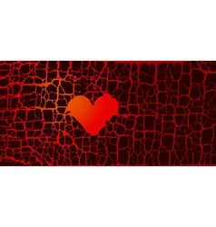 abstract broken heart symbol red hot love passion vector image vector image