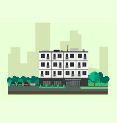 apartment house vector image