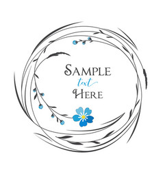circle with grass and flowers vector image vector image