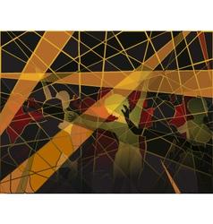 Disco mosaic vector image vector image