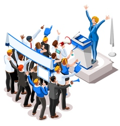 Election Infographic Convention Crowd Isometric vector image vector image