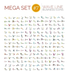 Logo mega collection abstract geometric business vector image