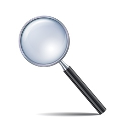 Magnifying glass isolated on white background vector image