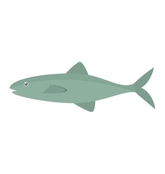 salmon fish sea food fresh vector image