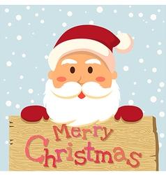 Santa Merry Xmas Board vector image