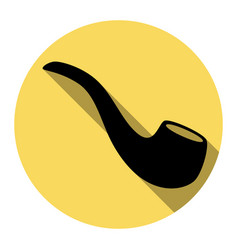 smoke pipe sign flat black icon with flat vector image vector image
