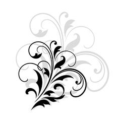 Swirling dainty foliate calligraphic design vector image
