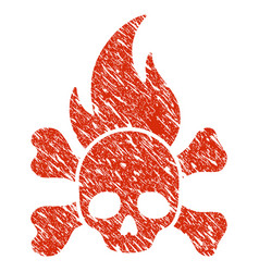 death fire icon grunge watermark vector image